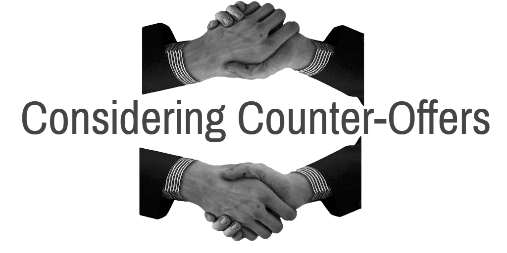 How to deal with a counter-offer